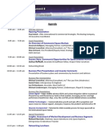 Space Investment Summit 8 Agenda - 5-26-10