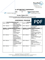 Conference Program 10 March 2013
