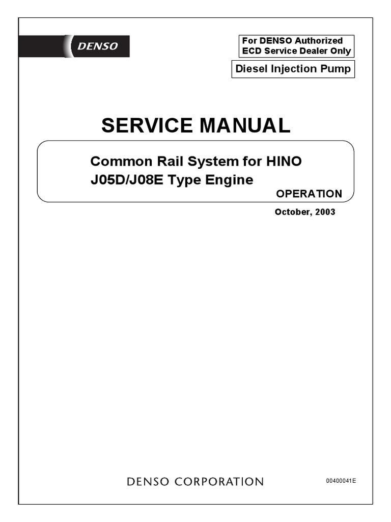 Hino Common Rail J05d J08e Fuel Injection Throttle Engine Coolant Blue