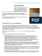 Why APA is Losing Members 2012