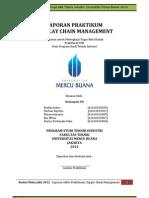 studi kasus laporan praktikum mengenai supply chain management dalam teknik industri.