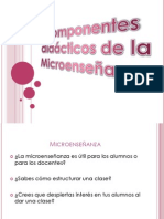 Componentes didácticos de microenseñanza
