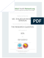 The Research Question Certificate