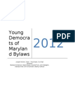 Young Democrats of Maryland Official 2012 Bylaws