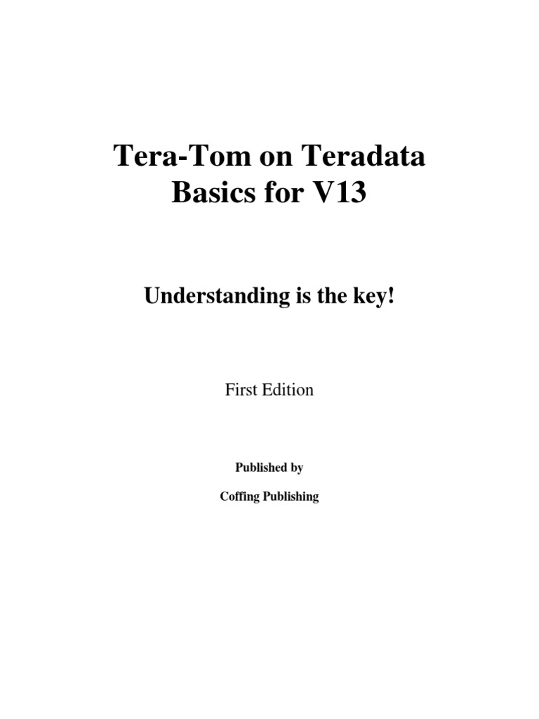 Tera-tom On Teradata Sql V12/v13 Pdf