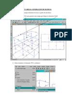 Extrude Lineas a Areas SAP2000