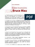 Filosofía de Vida de un de un Diseñador, Manifiesto Incompleto.