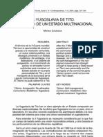 Casanova, M. - La Yugoslavia de Tito. El Fracaso de Un Estado Multinacional