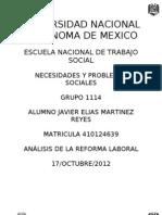 Análisis Reforma Laboral