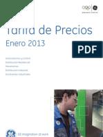 Tarifa de precios Enero 2013 GEPC.