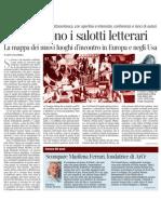 Se Rinascono i Salotti Letterari - Corriere Della Sera 27.12.2012