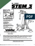 Weider System 3 15922 Manual
