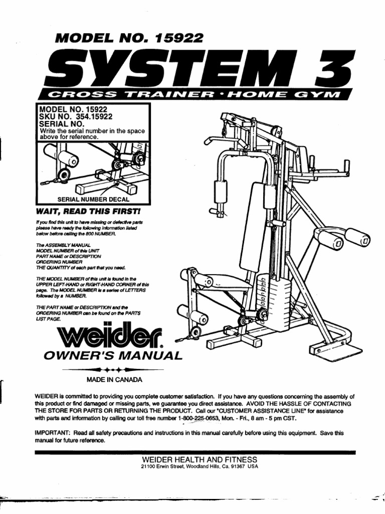 pro power multi gym assembly instructions manual