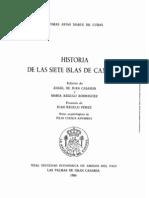 HISTORIA DE LAS SIETE ISLAS DE CANARIA DON TOMAS ARIAS MARfN DE CUBAS:
