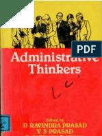 Administrative Thinkers D Ravindra Prasad