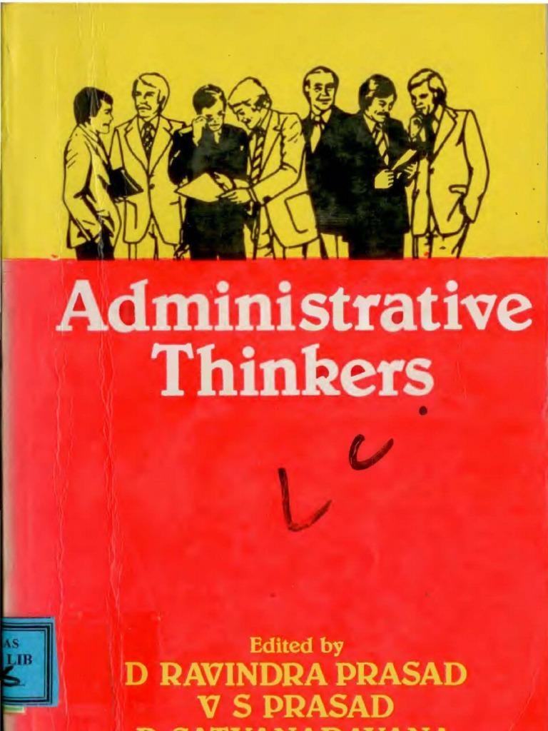 Administrative thinkers d ravindra prasad bureaucracy motivation fandeluxe Gallery
