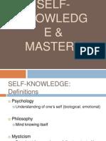 MGT 2 01 Self Knowledge & Mastery