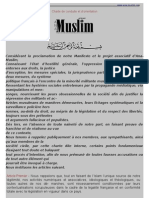 Charte de conduite et d'orientation