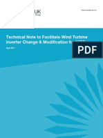 Technical Note to Facilitate Wind Turbine Inverter Change & Modification for MCS