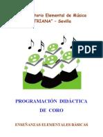PROGRAMACIÓN DIDÁCTICA DE CORO