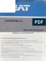 Seat Marbella Manual Uso 1987