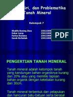Sifat, Ciri, Dan Problematika Tanah Mineral