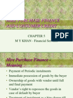 Hire Purchase of Financial Services