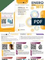 CAMON Madrid. Programación Enero 2013. Obra Social. Caja Mediterráneo