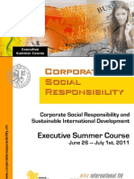 2011 CSR Executive Summer Course on International Development