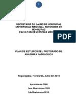 Plan de Estudios de Anatomia Patologica