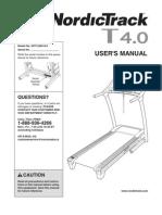 NordicTrack t4 treadmill manual