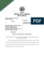 Western Appellate District on George Allen Habeas Corpus