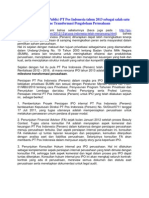 IPO Sebagai Milestone Tranformasi Pengelolaan Usaha PT Pos Indonesia (Persero)