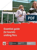 Guide to the view that the Peru Tourism