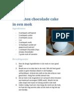 5 Minuten Chocolade Cake in Een Mok