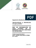 Red de abastecimiento de agua potable de San Cristóbal de Entreviñas