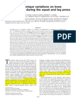 Effects of technique variations on knee biomechanics during the squat and leg press