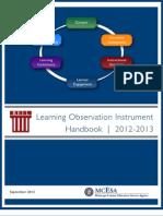 Learning Observation Instrument Handbook