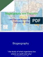 Bio Geography Evolution