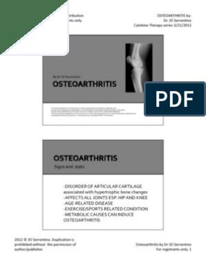 Tratarea protocol internațional de osteoartrita a genunchiului