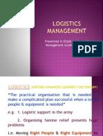 Logistics ManagementShahid Chavakkad