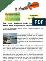 Dos vinte destinos mais procurados no Brasil, nove são praias da Paraíba