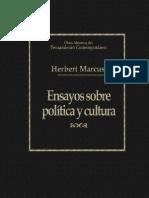 """Herbert, Marcuse """"Ensayos sobre política y cultura"""""""