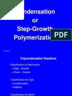 Chapter 4. Condensation Polymerization