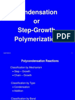 Chapter 4. Condensation Polymerization