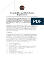 Fire Sprinkler Systems Submittal Requirements