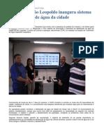 SEMAE de São Leopoldo inaugura sistema de telemetria de água da cidade