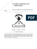 Calguns Foundation Model Carry License (LTC/CCW) Policy