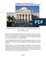 Sovereign Immunity and the Injustice of the Florida Supreme Court