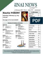 Jan-feb Sinai News 2013 Final